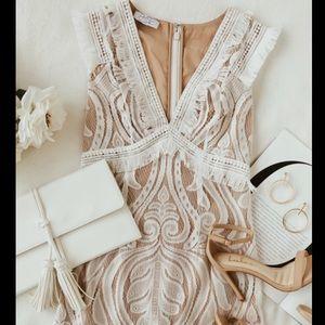 Lulus Michi White Lace Mini Dress